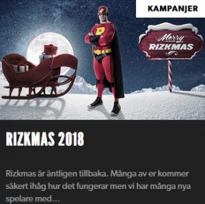 Vinn upp till 1000 kr varje dag i Rizk Rizkmas 2018!