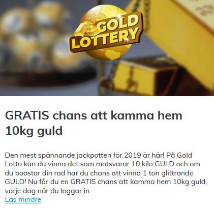 Vinn 10 kg guld på Multilotto!