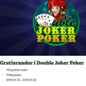 Vinn 100 gratisrundor i Double Joker Poker på Paf!