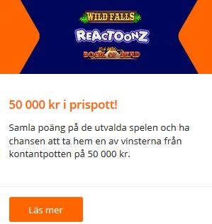 50 000 kr i prispott att slåss om på Betsson!