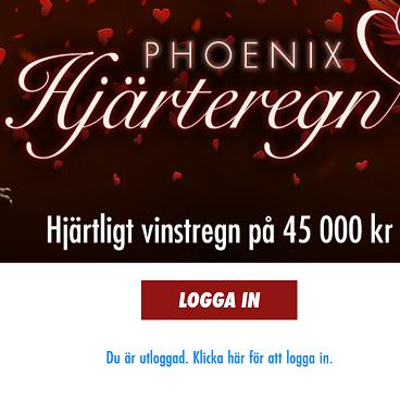 Phoenix Hjärtregn - Tävla om 45 000 kr på Jackpotjoy!
