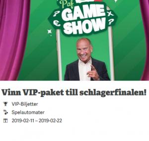 Så kan du vinna ett VIP-paket för 2 till schlagerfinalen hos Paf!
