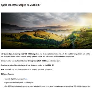 Spela om ett förstapris på 25 000 kr på nätcasino iGame!