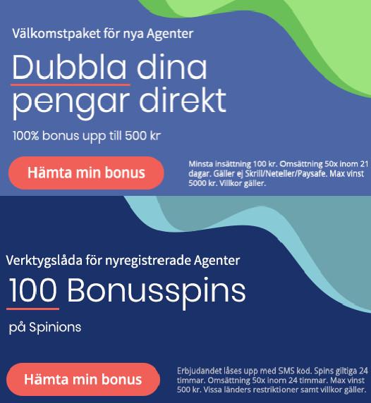 Registrera dig på Agent Spinner och tävla om 120 000 € nu!