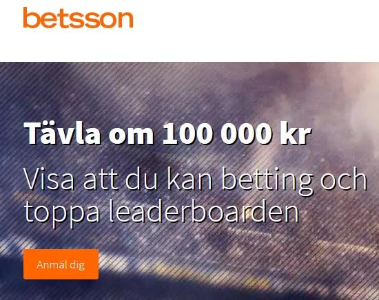 Tävla och vinn din del av 100 000 kr på Betsson!