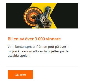 Vinn upp till 100 000 kr första pris hos Betsson!
