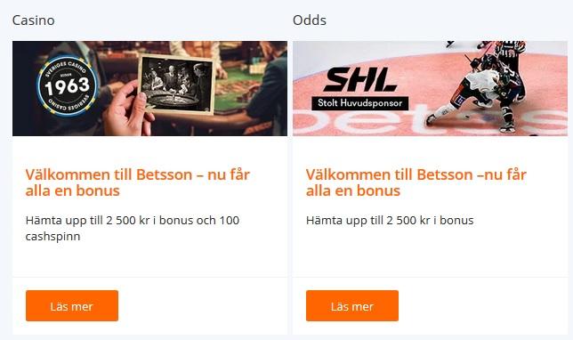 Skapa konto på Betsson för att tävla om drygt 1 miljon kronor!