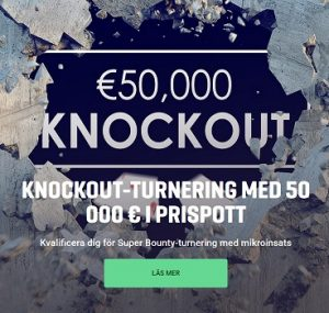 € 50 000 Knockout-turnering poker på Guts!