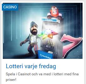 Veckovisa lottdragninar med cashspins i mars på NordicBet!