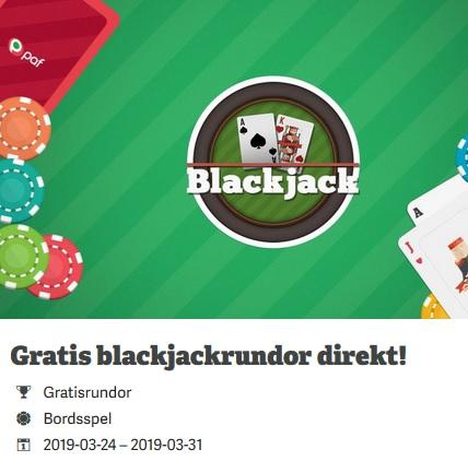 Fixa 50 gratishänder i Blackjack på Paf nu!