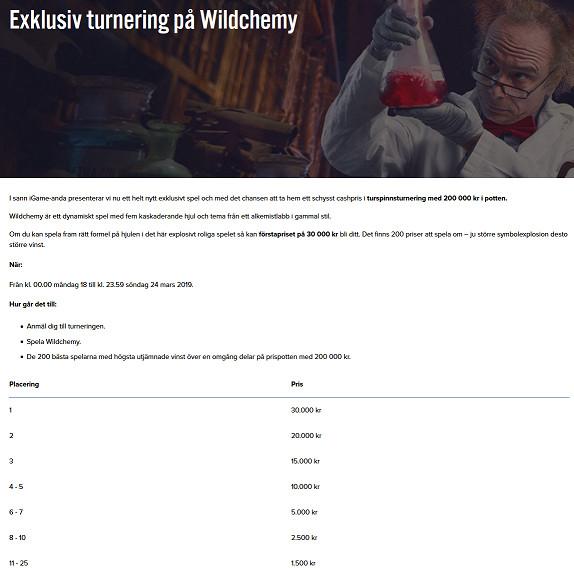 Spela om 200 000 kr på iGame i Wildchemy-turneringen!