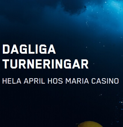 Dagliga turneringar med 50 000 kr på Maria Casino under april 2019!