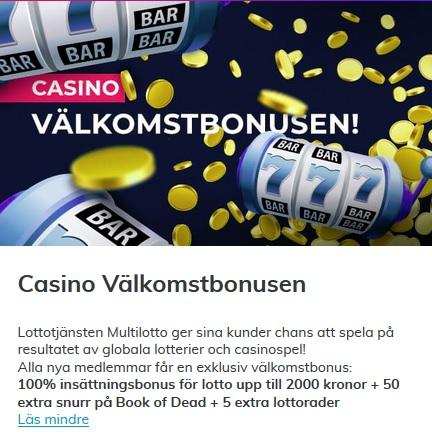 Klicka här och hämta din Multilotto casino bonus nu!