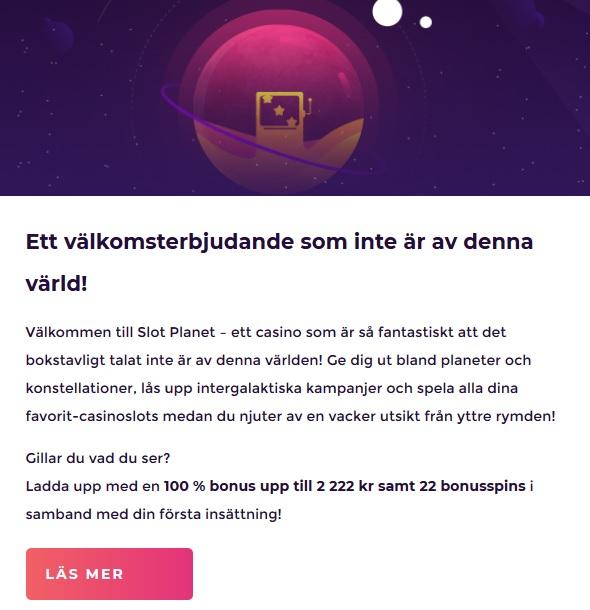 Hämta ditt välkomsterbjudande nu hos Slot Planet!