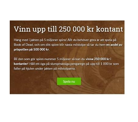 Vinn 250 000 kr med ett enda snurr på Sverigeautomaten!