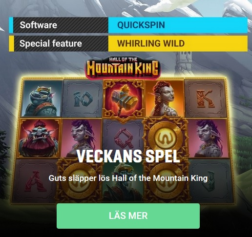 Veckans spel på Guts - Hall of the Mountain King!