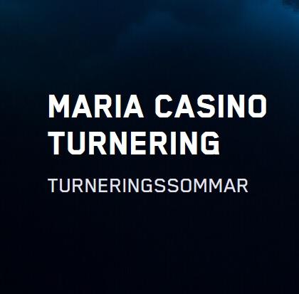 Turneringssommar med 300 000 kr på Maria Casino!