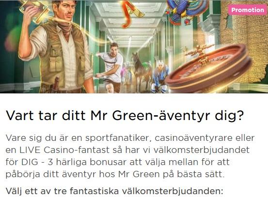 Bli medlem på Mr Green och tävla om 100 000 kr nu!