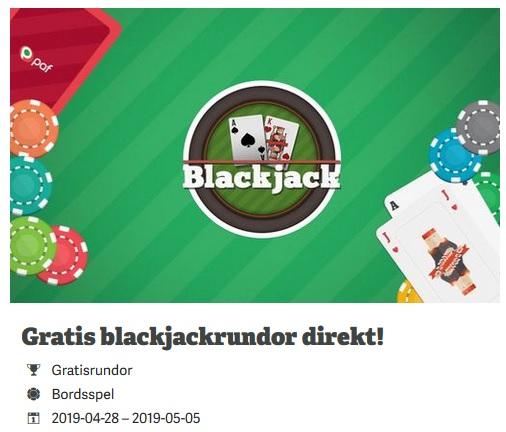 Hämta gratisrundor i Blackjack på Paf!