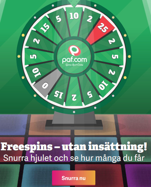 Vinn fina priser hos online casino Paf via gratisappen!