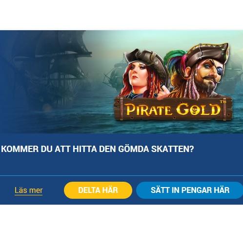 Delta i 500 000 kr Pirate Gold-kampanjen på SveaCasino!