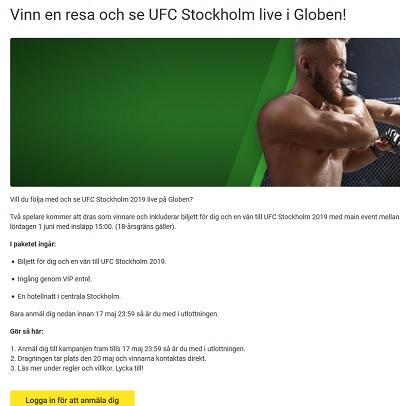 Vinn en resa till UFC hos Unibet