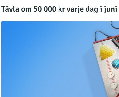 Tävla om 50 000 kr varje dag i juni på Bingo!