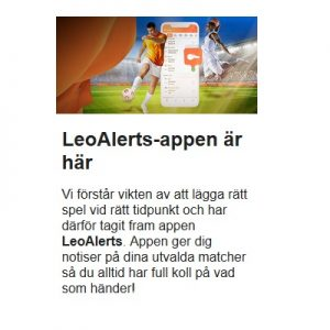 Nya LeoVegas lanserade app!