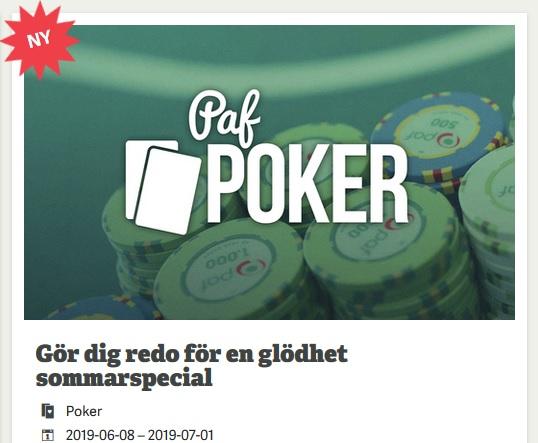 Kvala till 50 000 € pokerturnering hos online casino Paf!