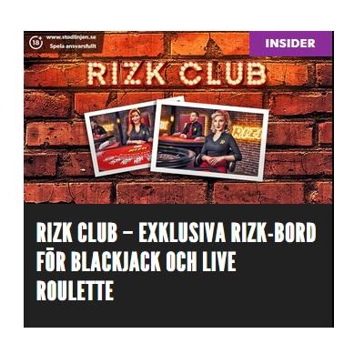 Spela exklusiva livebord i Rizk Club!