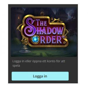 Spela nya The Shadow Order på Storspelare!