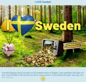 Delta i 10 000 kr vinstregn idag på SwedenCasino!
