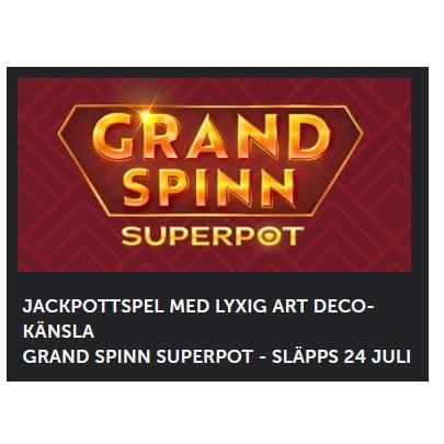 Spela Grand Spinn Superpot på Betsafe!