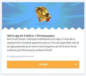 Få 90 free spins och upp till 3000 kr bonuspengar på Casilando!