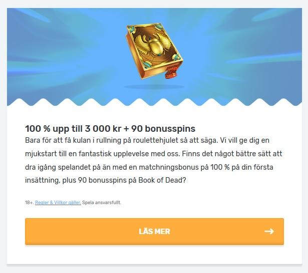 Hämta 90 free spins och 3000 kr bonuspengar nu på Casilando!