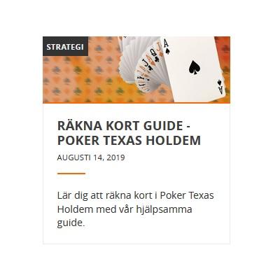 Nu kan du lära dig räkna kort i pokerspelet Texas Holdem på Betsson!
