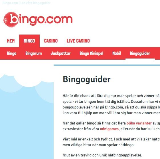 Så spelar du bingo på Bingo.com!