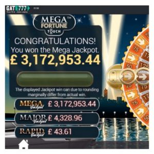 Jackpottvinst på 35 miljoner kronor hos Gate777 Casino!