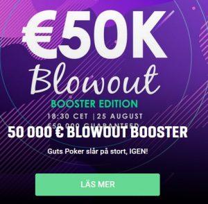 Vinn plats till 50 000 € Poker från Guts!