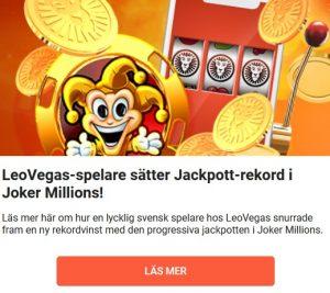 LeoVegas Jackpott-rekord i Joker Millions!