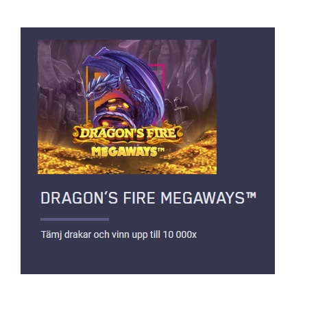 Dragon's Fire Megaways med 10 000x gånger på Maria Casino!