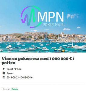 Paf Casino låter dig tävla om pokerplats med 1 € miljon i potten!