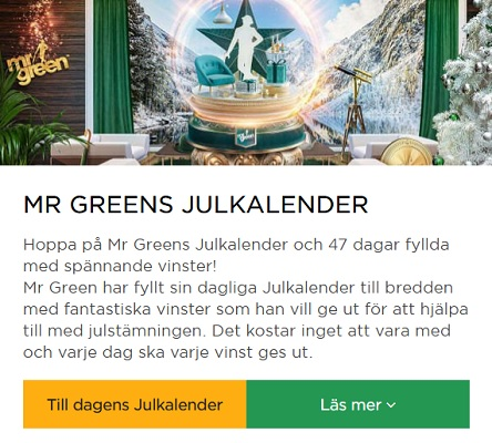 Mr Green Casino Julkalender 2019