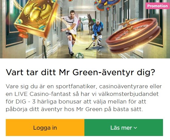 Delta i Mr Green Casino 47 dagars Julkalender 2019!
