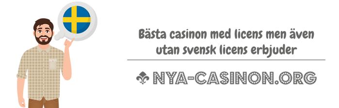 Casino utan svensk licens lista