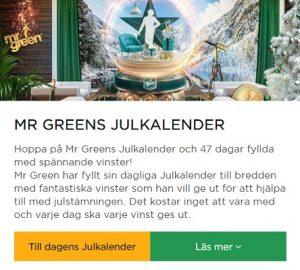 Dagens erbjudande i ett nötskal på Mr Green Casino!