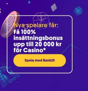 20 000 kr casino bonus på Casumo!