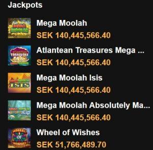 Progressiva jackpottar med 140 miljoner kr hos Videoslots!