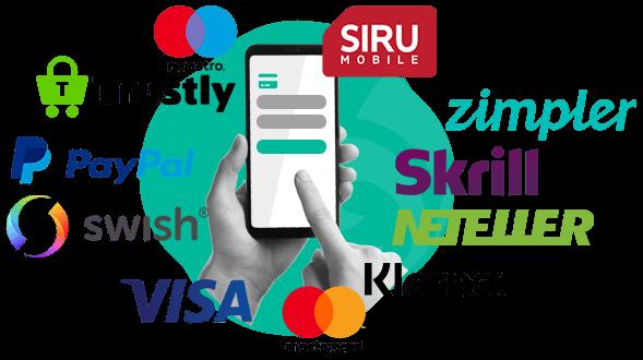 Betalningsmetoder på nätcasinon