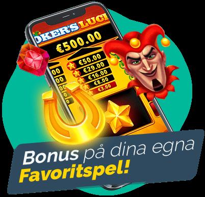 Tillgängliga spel med casinobonusar